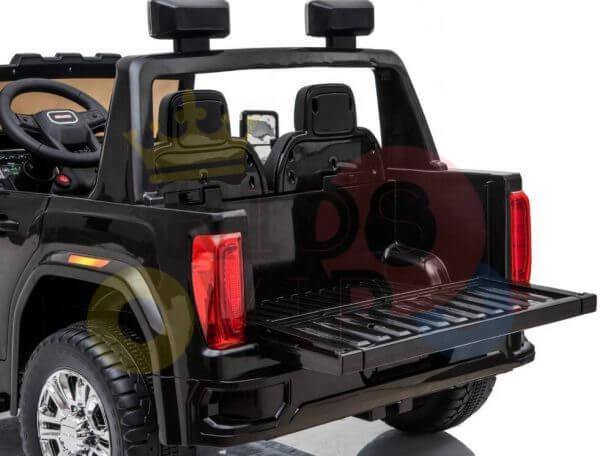 kidsvip gmc sierra kids ride on car 12v rubber wheels leather seat 2 seater red white black blue pink 46