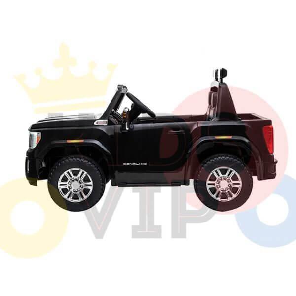 kidsvip gmc sierra kids ride on car 12v rubber wheels leather seat 2 seater red white black blue pink 47