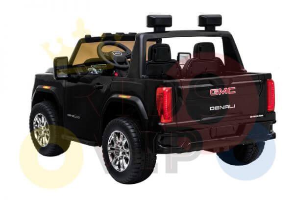 kidsvip gmc sierra kids ride on car 12v rubber wheels leather seat 2 seater red white black blue pink 5