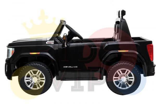 kidsvip gmc sierra kids ride on car 12v rubber wheels leather seat 2 seater red white black blue pink 6