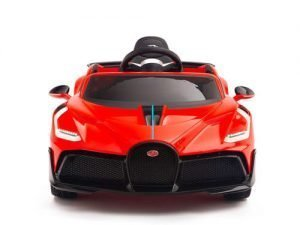 kids vip bugatti divo red kids toddlers ride on car 1