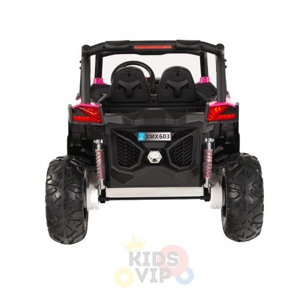 kidsvip 2 seater ride on utv sport 24v rubber wheels toddlers kids pink 11