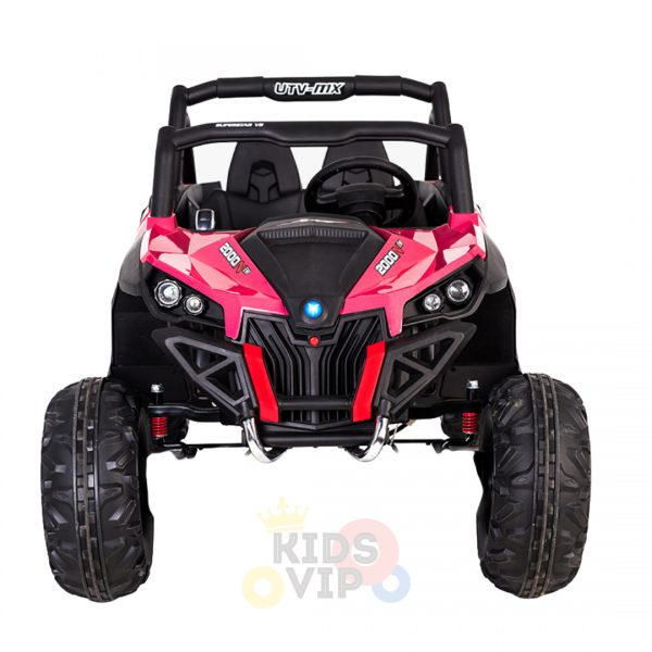 kidsvip 2 seater ride on utv sport 24v rubber wheels toddlers kids pink 15