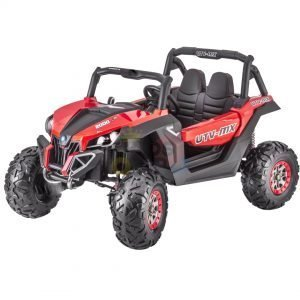 kidsvip 2 seater ride on utv sport 24v rubber wheels toddlers kids red 10