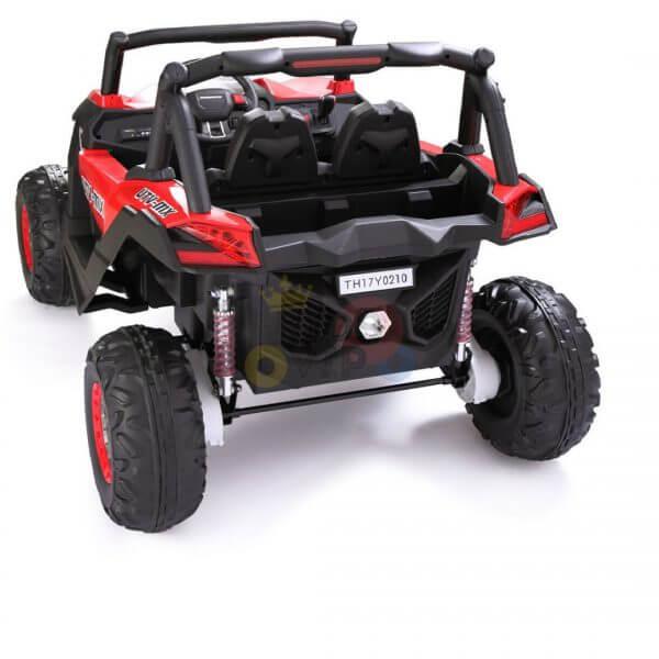 kidsvip 2 seater ride on utv sport 24v rubber wheels toddlers kids red 3
