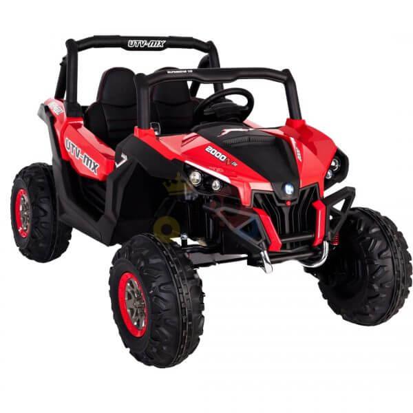kidsvip 2 seater ride on utv sport 24v rubber wheels toddlers kids red 5