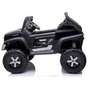 mercedes benz unimog ride on utv for kids dvd leather seat rubber wheels 4 motors kidsvip 5