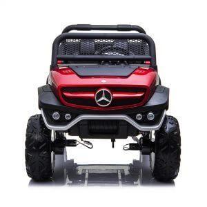 mercedes benz unimog ride on utv for kids leather seat rubber wheels 4 motors kidsvip 37