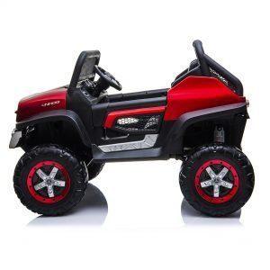 mercedes benz unimog ride on utv for kids leather seat rubber wheels 4 motors kidsvip 38 Copy