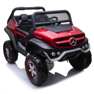 mercedes benz unimog ride on utv for kids leather seat rubber wheels 4 motors kidsvip 47 Copy