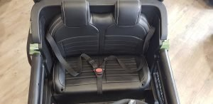 mercedes benz unimog ride on utv for kids leather seat rubber wheels 4 motors kidsvip 62
