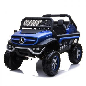 mercedes benz unimog ride on utv for kids leather seat rubber wheels 4 motors kidsvip 8