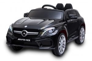 12v Mercedes GLA45 Kids and Toddlers Ride on Car rc leather seat rubber wheels black kidsvip 5
