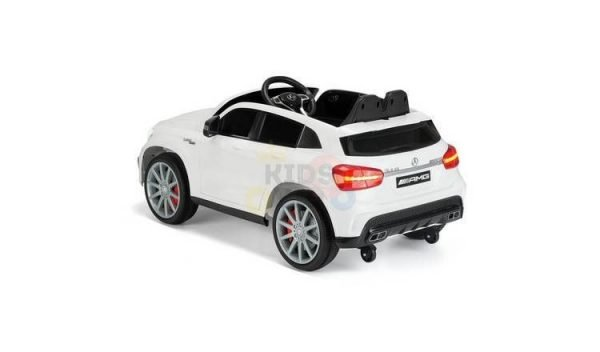12v Mercedes GLA45 Kids and Toddlers Ride on Car rc leather seat rubber wheels white kidsvip 1