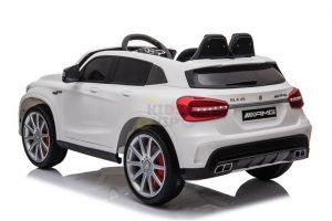 12v Mercedes GLA45 Kids and Toddlers Ride on Car rc leather seat rubber wheels white kidsvip 10 1