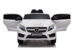 12v Mercedes GLA45 Kids and Toddlers Ride on Car rc leather seat rubber wheels white kidsvip 15 1