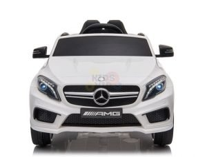 12v Mercedes GLA45 Kids and Toddlers Ride on Car rc leather seat rubber wheels white kidsvip 16 1