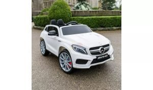 12v Mercedes GLA45 Kids and Toddlers Ride on Car rc leather seat rubber wheels white kidsvip 2