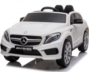 12v Mercedes GLA45 Kids and Toddlers Ride on Car rc leather seat rubber wheels white kidsvip 42 1