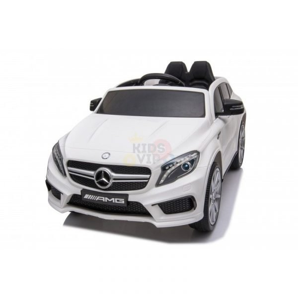 12v Mercedes GLA45 Kids and Toddlers Ride on Car rc leather seat rubber wheels white kidsvip 43