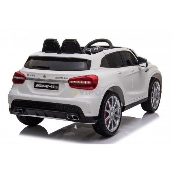 12v Mercedes GLA45 Kids and Toddlers Ride on Car rc leather seat rubber wheels white kidsvip 44 1
