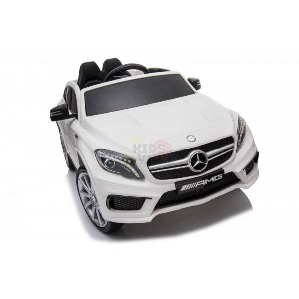 12v Mercedes GLA45 Kids and Toddlers Ride on Car rc leather seat rubber wheels white kidsvip 45 1