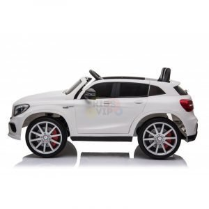 12v Mercedes GLA45 Kids and Toddlers Ride on Car rc leather seat rubber wheels white kidsvip 49