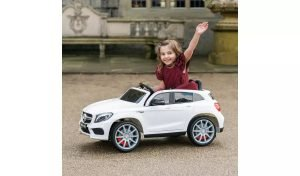 12v Mercedes GLA45 Kids and Toddlers Ride on Car rc leather seat rubber wheels white kidsvip 5