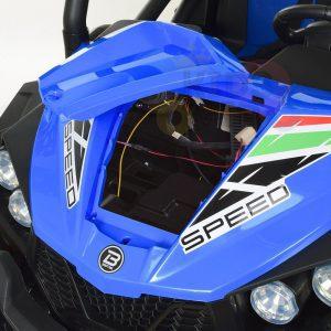 kidsvip 2 seater ride on utv buggy 2x12v rubber wheels toddlers kids blue 1 1