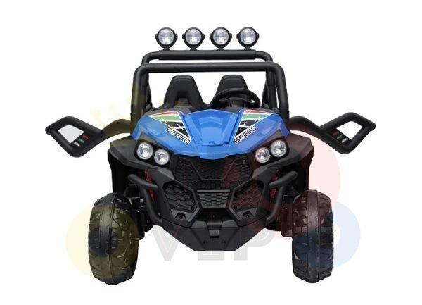 kidsvip 2 seater ride on utv buggy 2x12v rubber wheels toddlers kids blue 14 1