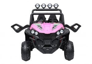 kidsvip 2 seater ride on utv buggy 2x12v rubber wheels toddlers kids pink 1