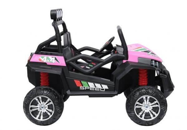 kidsvip 2 seater ride on utv buggy 2x12v rubber wheels toddlers kids pink 10
