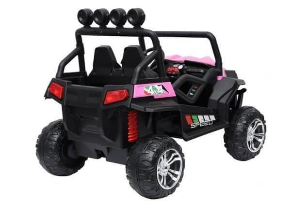 kidsvip 2 seater ride on utv buggy 2x12v rubber wheels toddlers kids pink 13