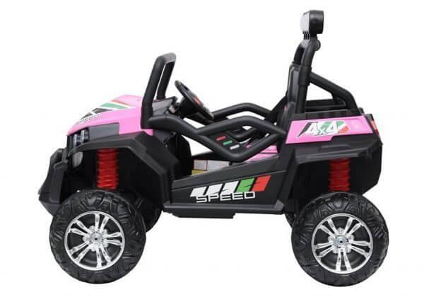 kidsvip 2 seater ride on utv buggy 2x12v rubber wheels toddlers kids pink 14