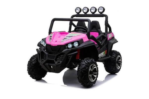 kidsvip 2 seater ride on utv buggy 2x12v rubber wheels toddlers kids pink 3