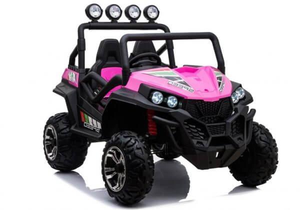 kidsvip 2 seater ride on utv buggy 2x12v rubber wheels toddlers kids pink 6