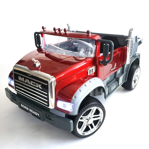 kidsvip kids and toddlers mack truck ride on car red with remote 15