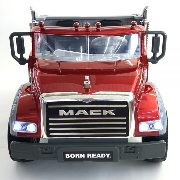 kidsvip kids and toddlers mack truck ride on car red with remote 3