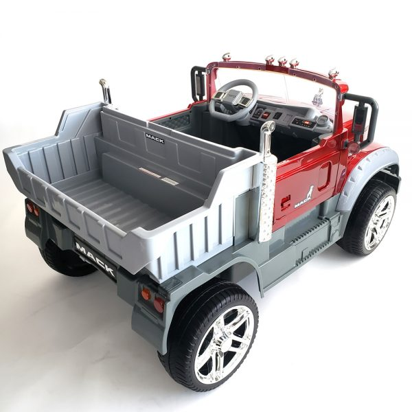 kidsvip kids and toddlers mack truck ride on car red with remote 30