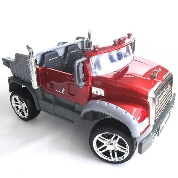 kidsvip kids and toddlers mack truck ride on car red with remote 37
