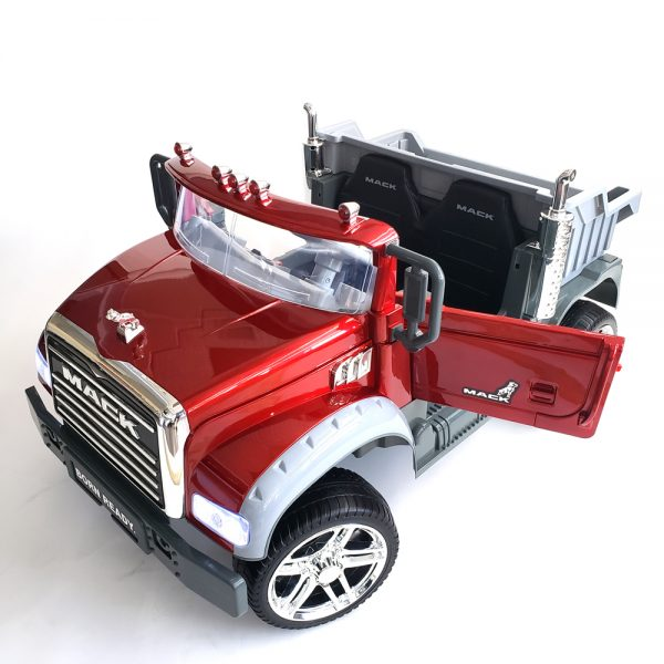 kidsvip kids and toddlers mack truck ride on car red with remote 9