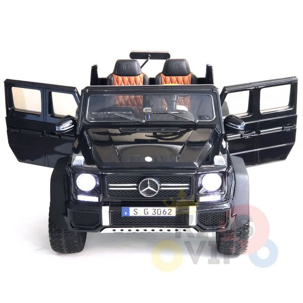 kidsvip mercedes maybach ride on truck car 2seater 2 seater black mp4 33