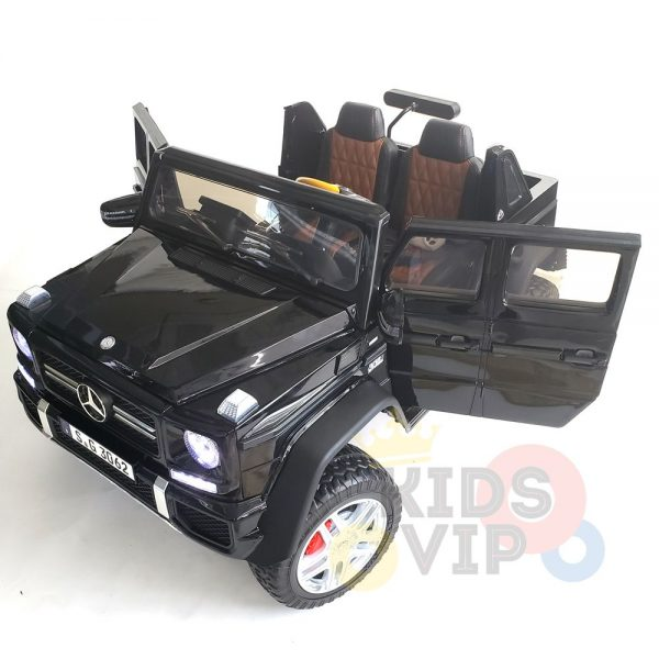 kidsvip mercedes maybach ride on truck car 2seater 2 seater black mp4 34