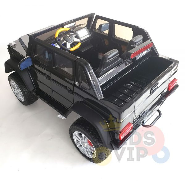 kidsvip mercedes maybach ride on truck car 2seater 2 seater black mp4 39 1