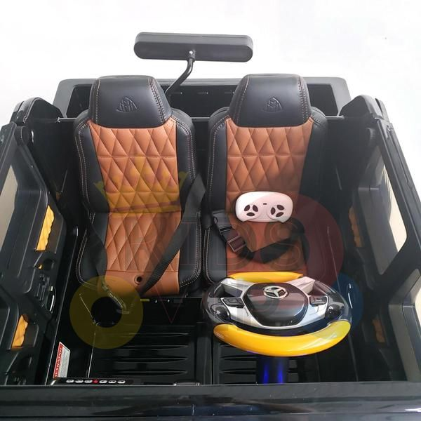 kidsvip mercedes maybach ride on truck car 2seater 2 seater black mp4 4 1
