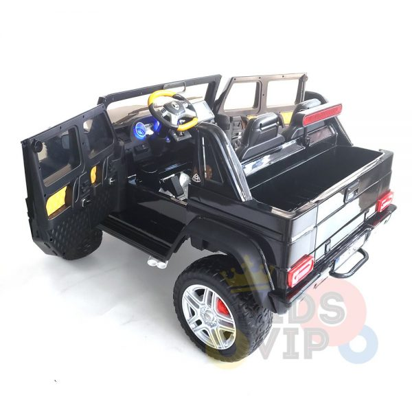 kidsvip mercedes maybach ride on truck car 2seater 2 seater black mp4 43