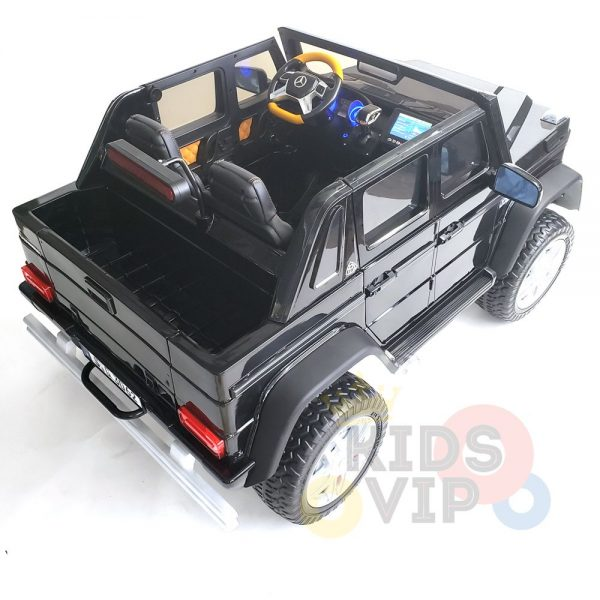 kidsvip mercedes maybach ride on truck car 2seater 2 seater black mp4 51 1