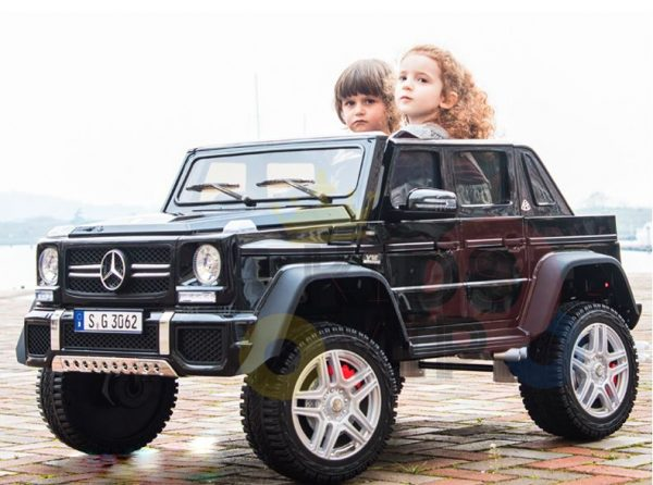 kidsvip mercedes maybach ride on truck car 2seater 2 seater black mp4 65