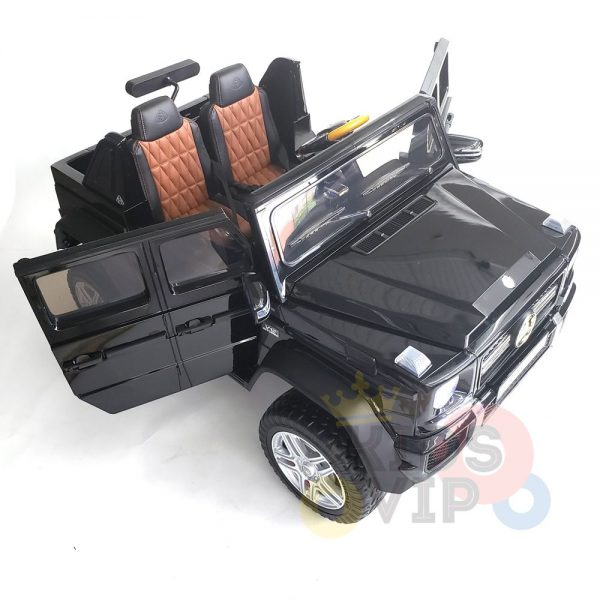 kidsvip mercedes maybach ride on truck car 2seater 2 seater black mp4 9