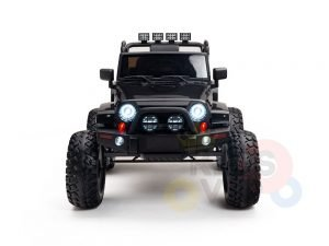 24v kids ride on truck lifted nitro rc kidsvip black 1